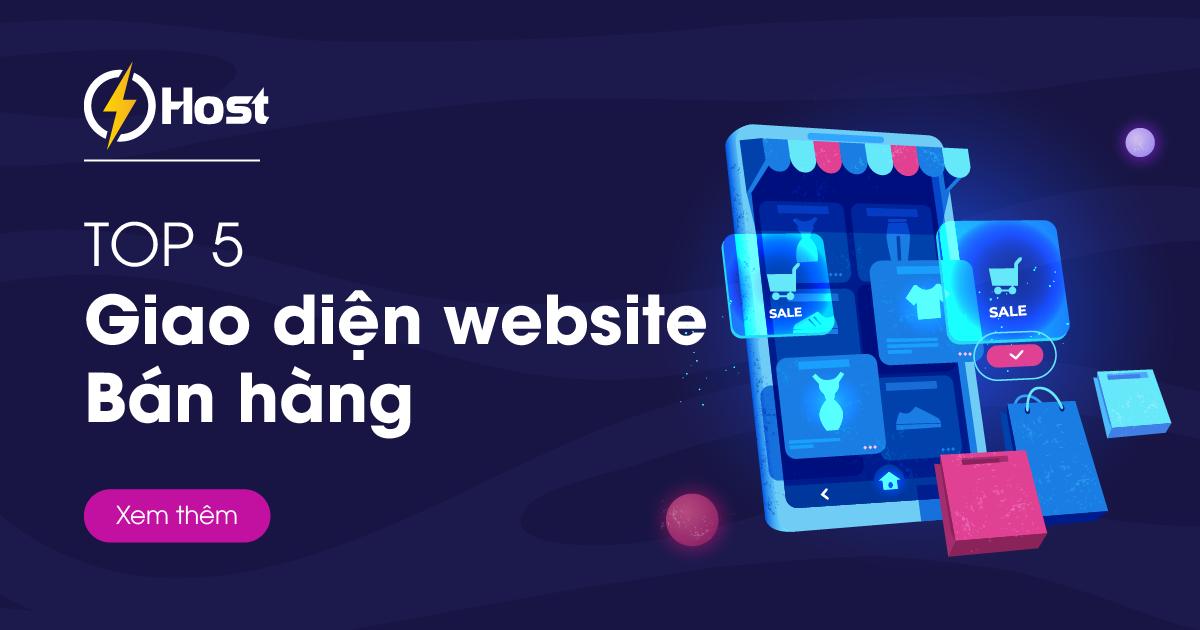 giao diện website bán hàng